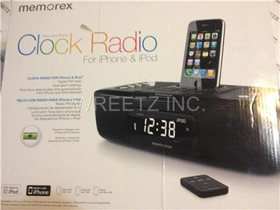 Memorex Mi4290PBLK iWake Digital Clock Radio for iPod iPhone (Black