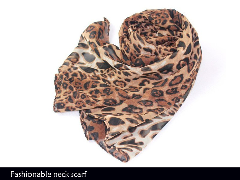 NEW WOMENS STYLISH RECTANGULAR SMALLLARGE LEOPARD PRINT NECK SCARVES Small Neck Scarves Women