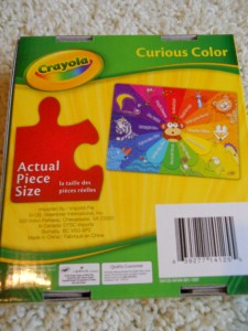 New Crayola Curious Color Kids Puzzle 24 Puzzle Pieces Learning Fun
