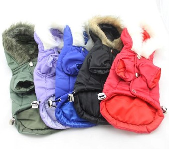 Dog Winter Hoodie Warm Coat Soft Pet Puppy Costume for Small Medium