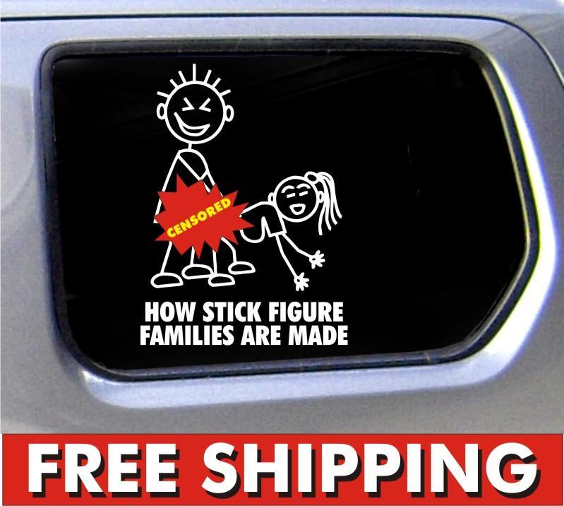 Funny car window decals