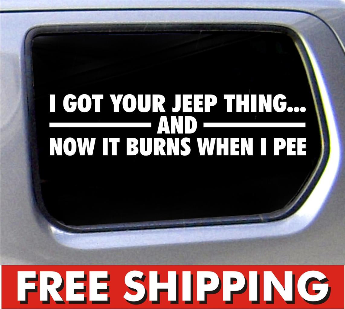 ... jeep thing funny Decal 4x4 offroad mud its a vinyl sticker car window
