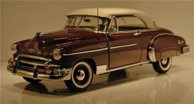 Franklin mint 1950 chevy belair 2 door hardtop maroon w for 1950 chevy 2 door hardtop