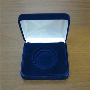 Air Tite Blue Coin Display Case Presentation Box Silver