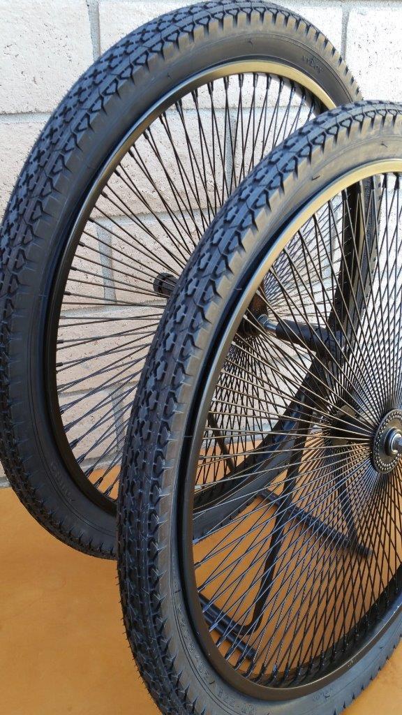 pair 26 cruiser lowrider bicycle dayton black wheels 144. Black Bedroom Furniture Sets. Home Design Ideas