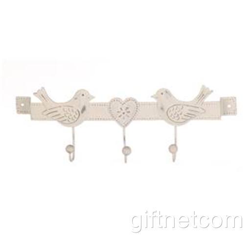 Vintage Style Metal Wall Hooks Shabby Chic Iron Hooks Heart Owl Decoration Hooks