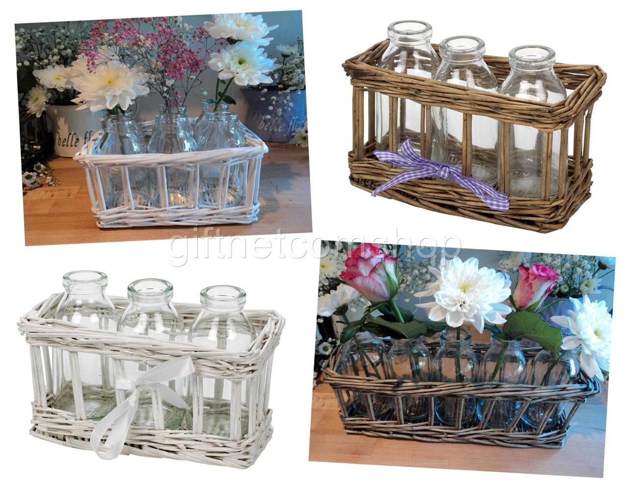 Mini milk bottles basket storage holder wedding table decoration image is loading mini milk bottles basket storage holder wedding table junglespirit Choice Image