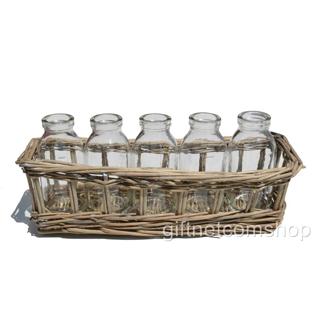 Mini milk bottles basket storage holder wedding table for Wedding table organizer