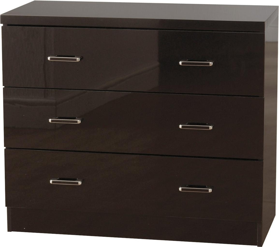 Charisma Chest Of Drawers 3 4 5 Drawers Chest In Gloss Black White EBay