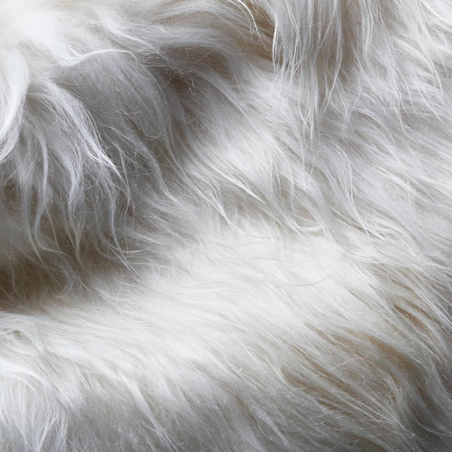 ICELANDIC WHITE SHEEPSKIN TRIPLE HIDE LONG HAIR SHAGGY