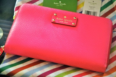 Nwt Kate Spade Wlru1154 Wellesley Zip Travel Wallet Fiesta Rose Leather 248 Ebay