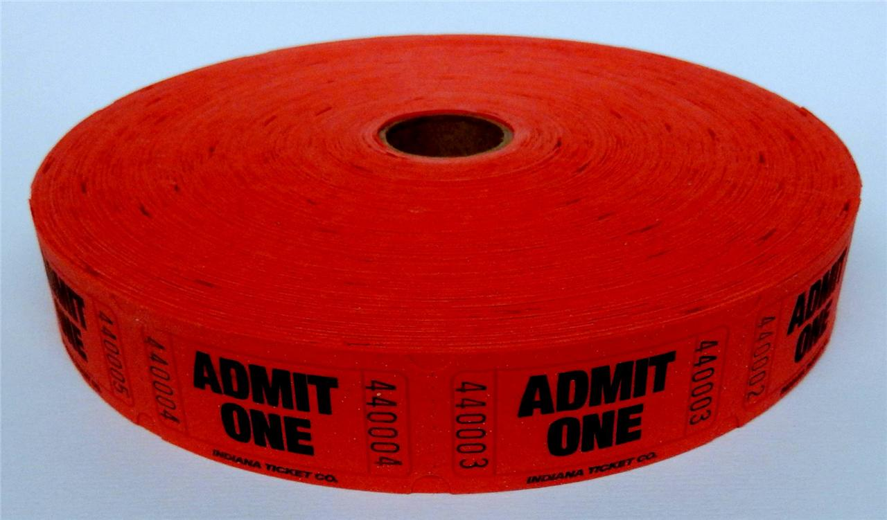 1 Roll Carnival Raffle Event Or Admission Tickets 2000 Per