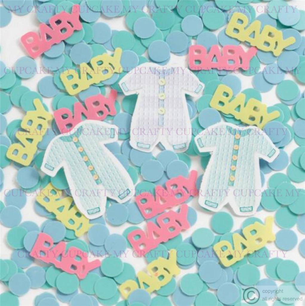 New baby or christening table confetti decoration boy or for Baby confetti decoration