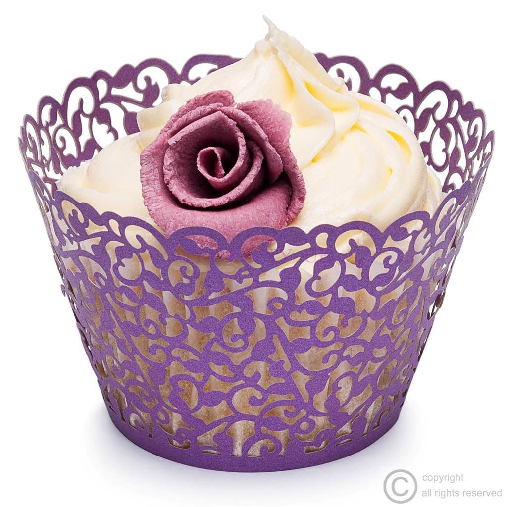 purple filigree vine cupcake wrappers on birthday cake supplies sunshine coast
