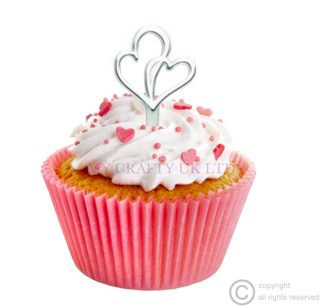 Heart Cupcake Decorations