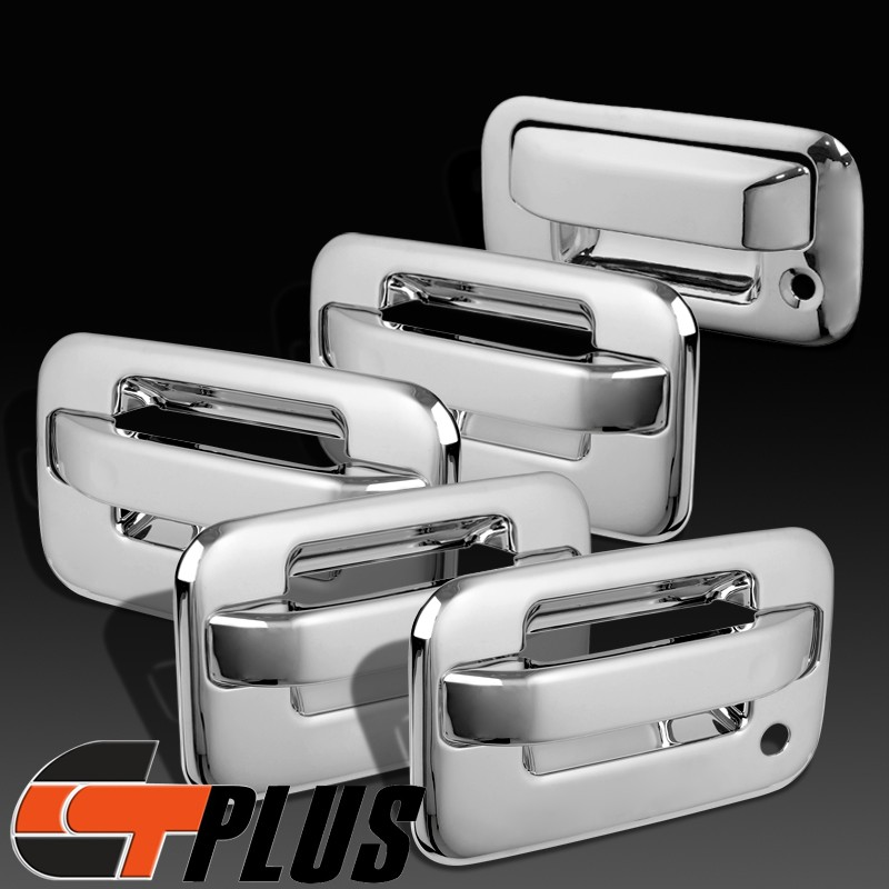 2004 2010 Ford F150 Crew Cab Chrome Door Handle Tailgate Covers Trim Bezel 11 12