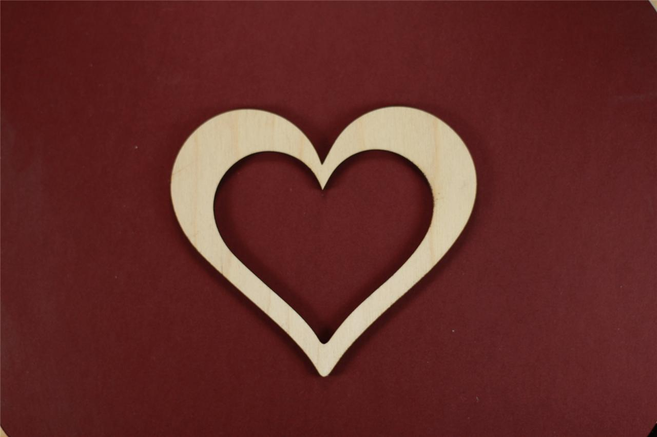 Unfinished wood picture frames craft - Heart Frame Shape Unfinished Wood Laser Cut Shapes Crafts Variety Of