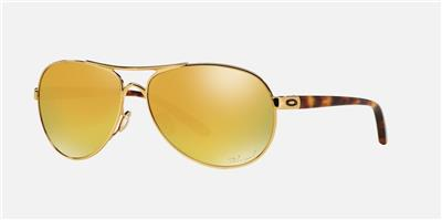 authentic oakley sunglasses o7gi  New Oakley Feedback Polarized Aviator Sunglasses Gold/24k Iridium Authentic