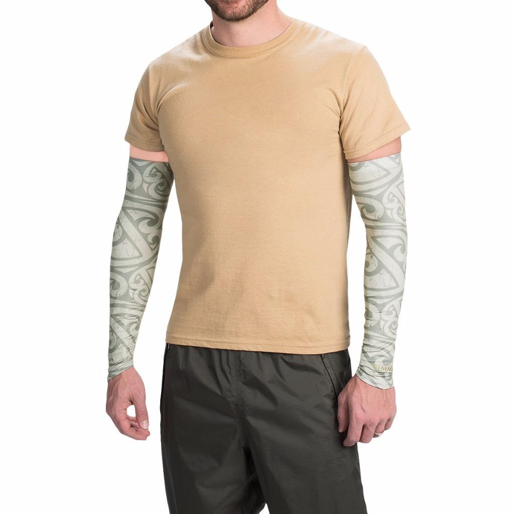 New simms fishing sun sleeves upf 50 sun protection arm for Moisture wicking fishing shirts
