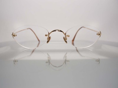 High End Designer Eyeglass Frames : Lunor Germany Classic II Gold Rimless High End German ...