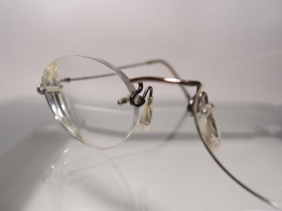 Japanese Frameless Eyeglasses : Kazuo Kawasaki MP-631 Antique Gold Rimless Titanium ...