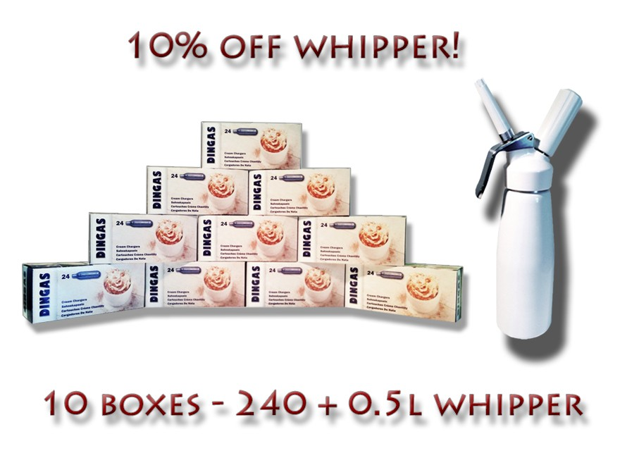nitrous oxide n2o nos chargers canisters whip cream dispensers kit 8g gas noz ebay. Black Bedroom Furniture Sets. Home Design Ideas