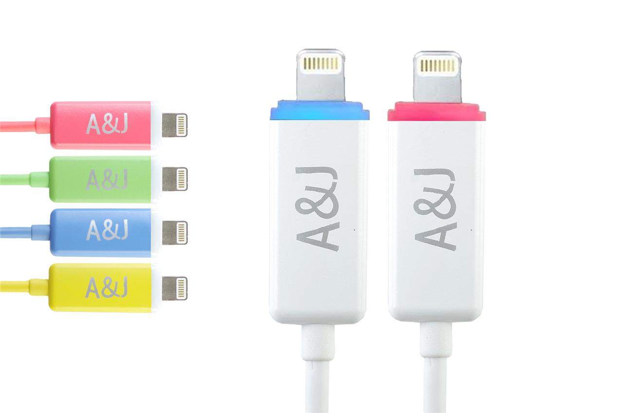 LED Charging lead charger USB Data cable for iPhone 6 5C 5S iPod ...