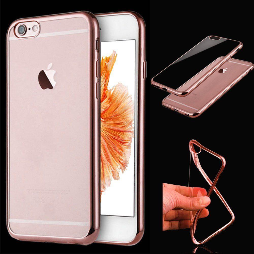 clear gel soft back silicone tpu mirror bumper case cover for new apple iphone ebay. Black Bedroom Furniture Sets. Home Design Ideas