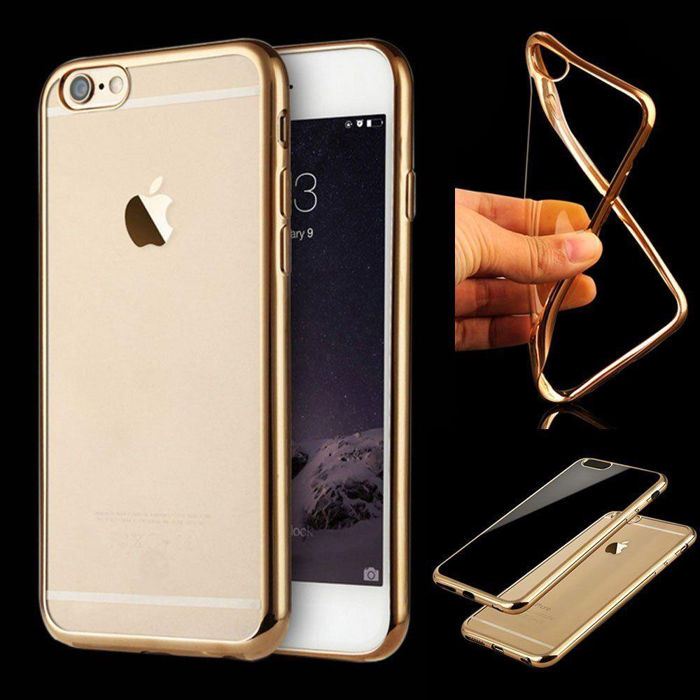 Shockproof silicone mirror bumper clear back case cover for Phone mirror
