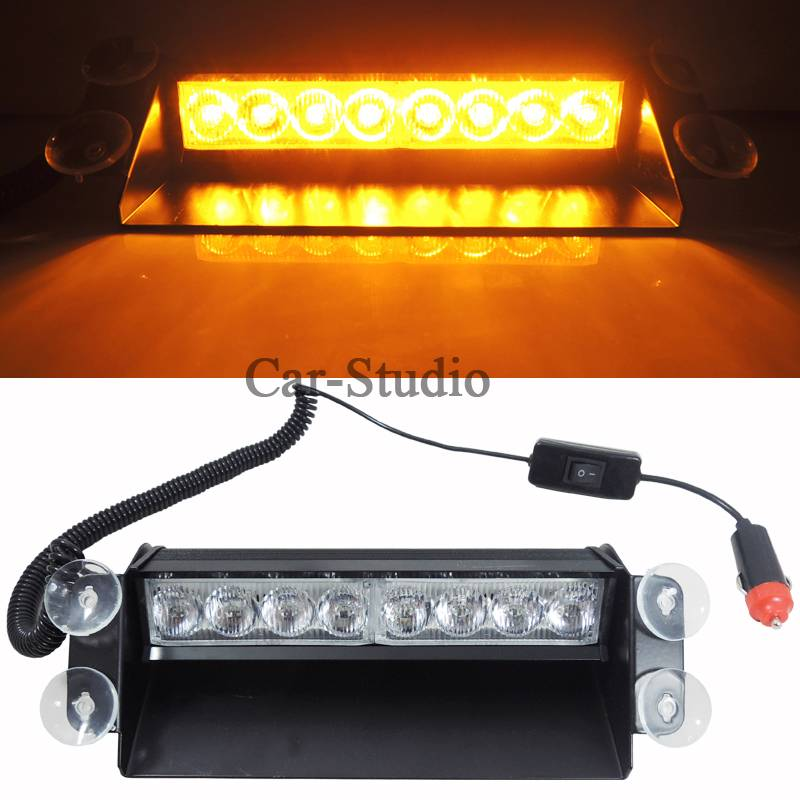 new amber warning emergency truck car 8 led car vehicle. Black Bedroom Furniture Sets. Home Design Ideas