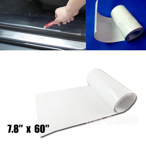 1x clear 7 8 39 39 x 60 39 39 protection scratch film vinyl sheet for car door sill edge ebay. Black Bedroom Furniture Sets. Home Design Ideas
