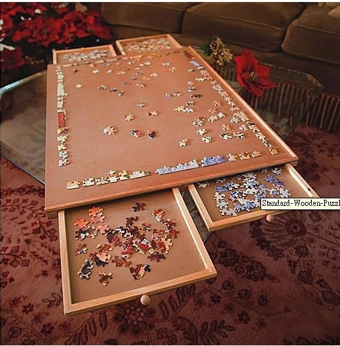 standard wooden wood jigsaw puzzles puzzle plateau board