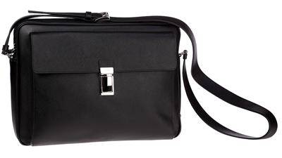 NEW Prada MEN\u0026#39;S Black Saffiano Leather Bandolier Messenger Travel ...