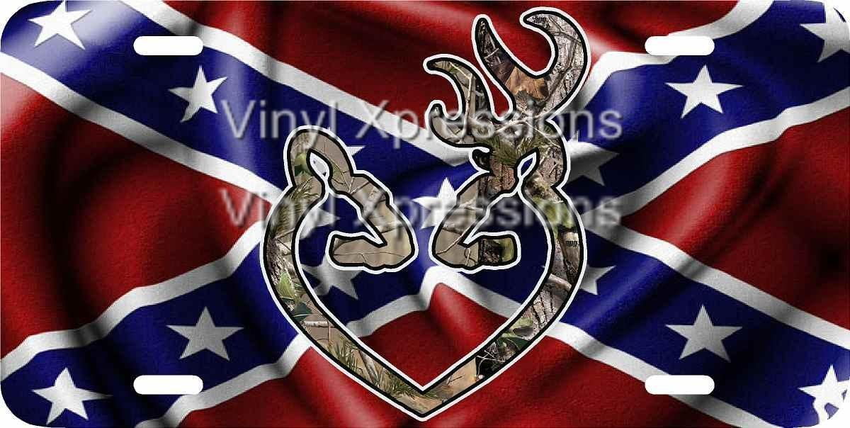 camo and rebel flag browning heart