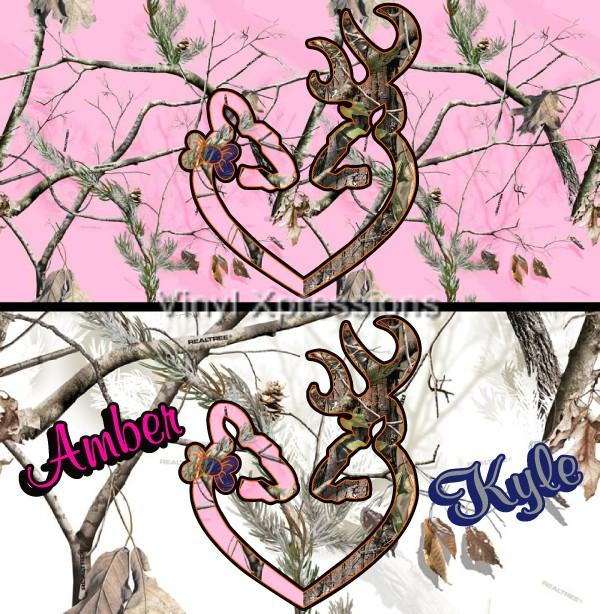 Browning Symbol Heart Camo Background Pink Camo Browning Deer Heart