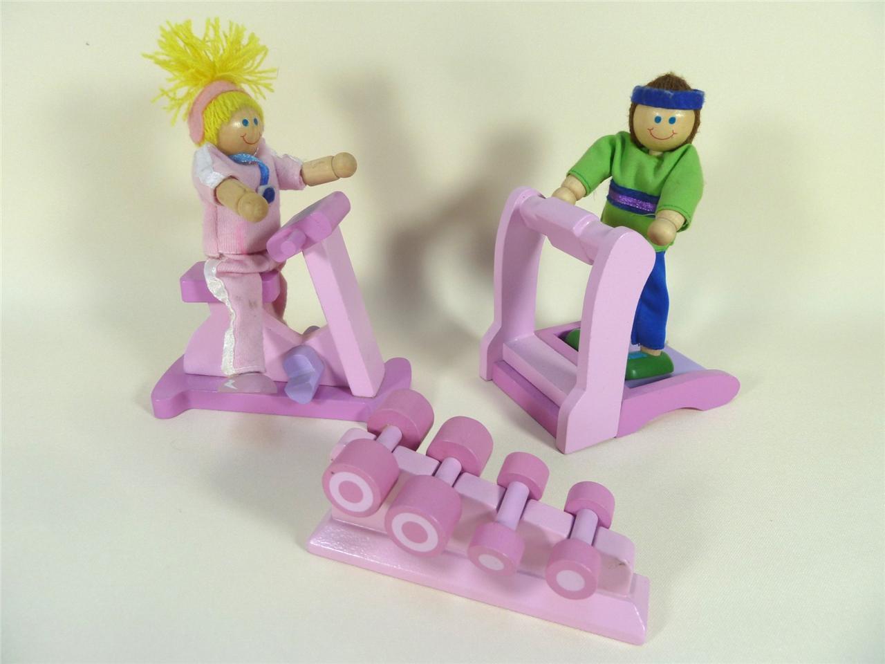 Elc Rosebud Cottage Wooden Dolls House Furniture Gym Ebay