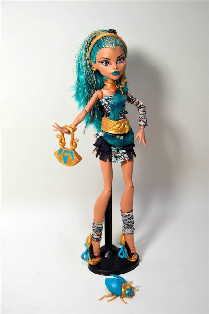 Monster high nefera de nile doll pet diary stand box ebay - Nefera de nile ...