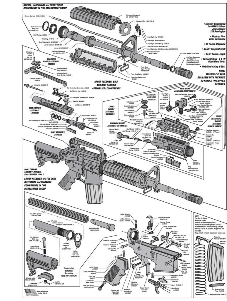 AR-15-DIAGRAM-GLOSSY-POSTER-PICTURE-PHOTO-shoot-guns-rifles-weapons    Ar15 Diagram