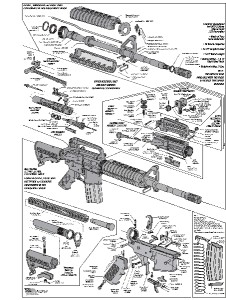 AR-15 DIAGRAM GLOSSY POSTER PICTURE PHOTO shoot guns rifles ...