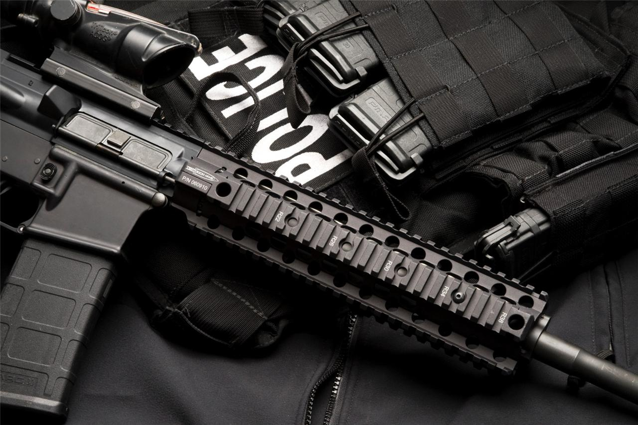 Ar 15 police glossy poster picture photo cops m 16 gun rifle automatic