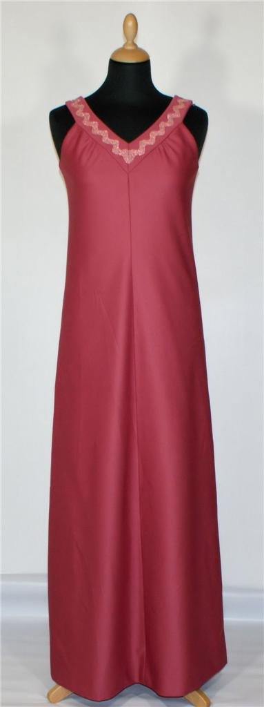 Vintage-Maxi-Dress-Retro-Party-Evening-Cocktail-Prom-Wedding-Burgundy-10