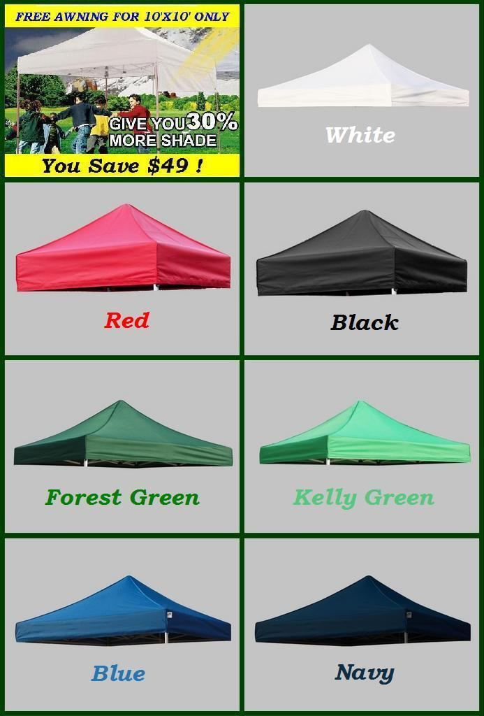 Quick Shade Replacement Canopy Top : New ez pop up replacement instant canopy gazebo tent top