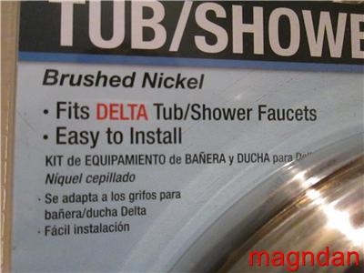 about delta by danco brushed nickel tub shower trim kit model