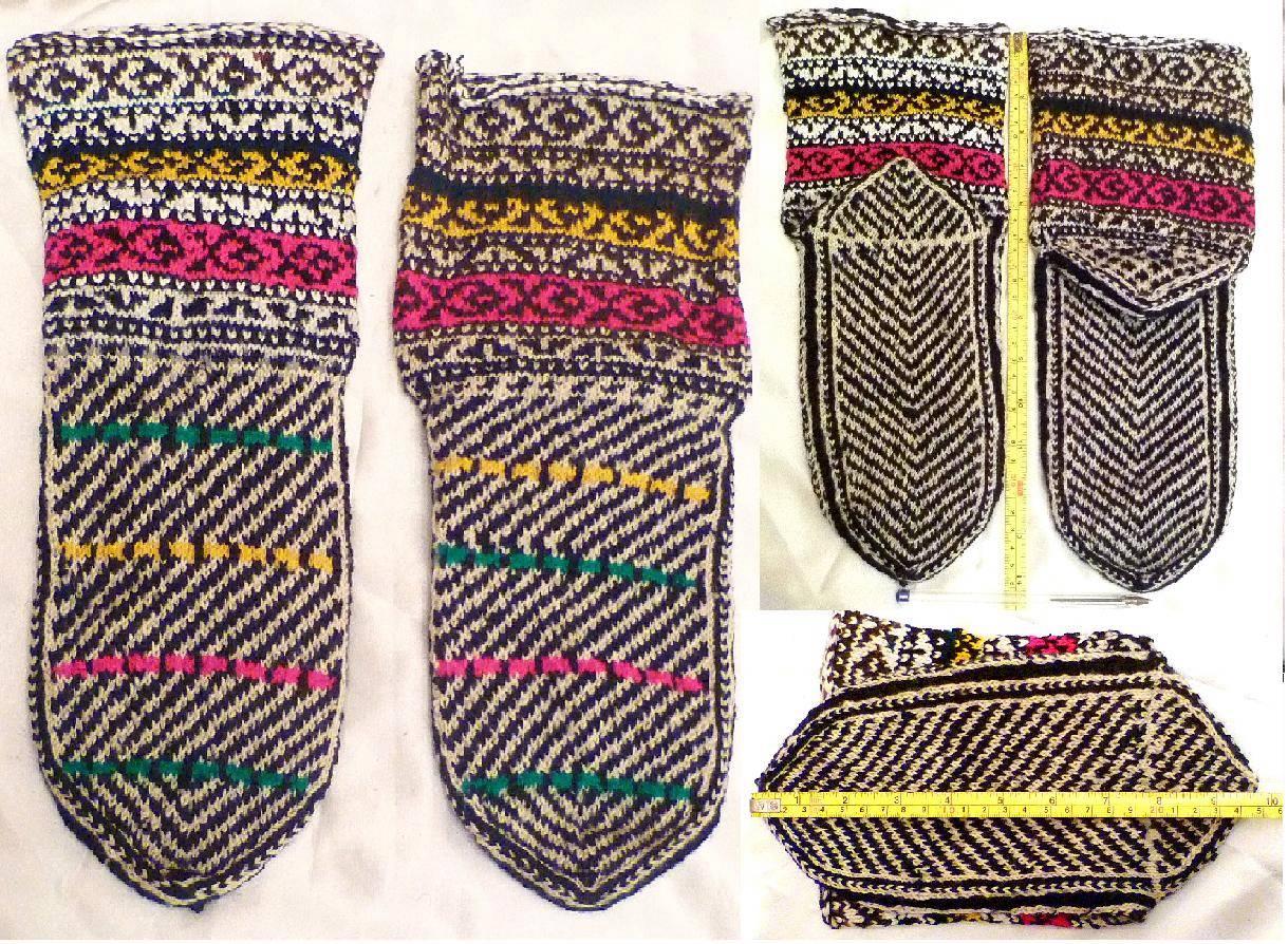 Knitting Pattern Women s Socks : Pair KURDISH Men Women Hand Made Knitting Pattern Yarn ...