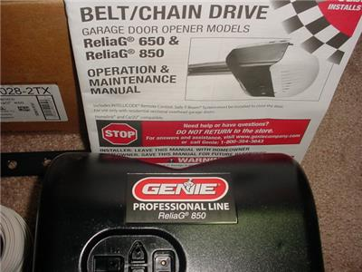 New Genie Reliag 850 Pro Model 2028 Dc Chain Belt Drive