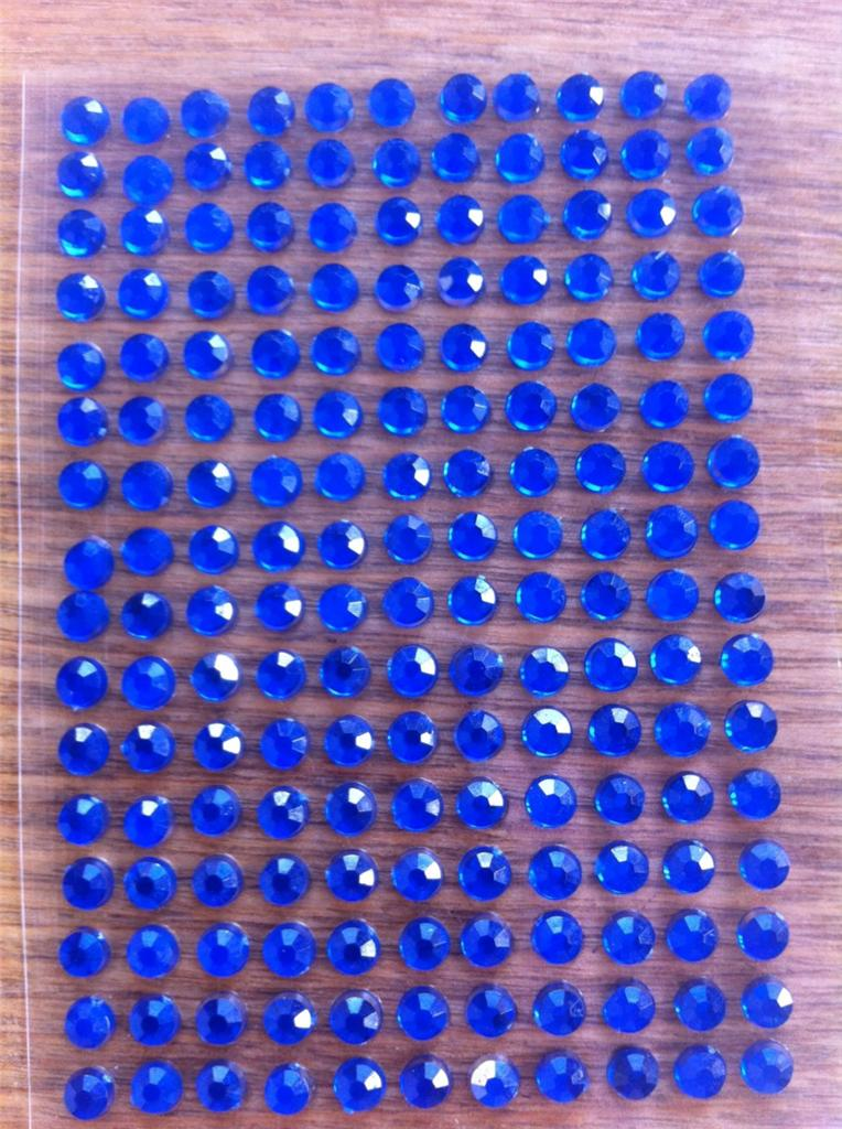 Self adhesive diamante x 352 stick on gems diamontes for Stick on gems for crafts