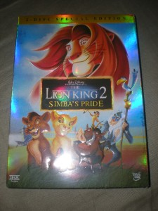 Lion King 2 Simbas Pride Special Edition Box Cover DVD