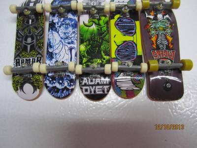 Lot Of 5 Tech Deck 96mm Skateboard Armor Darkstar Adam