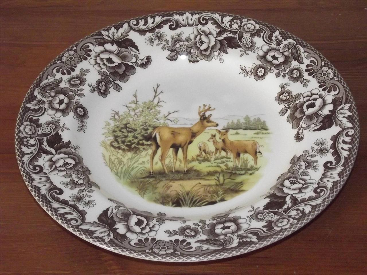 Spode Woodland 27cm Dinner Plate Mule Deer Made England & Deer Dinner Plates - Castrophotos