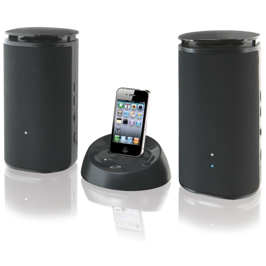 Ilive Wireless Speakers W Charging Dock For Ipod Iphone